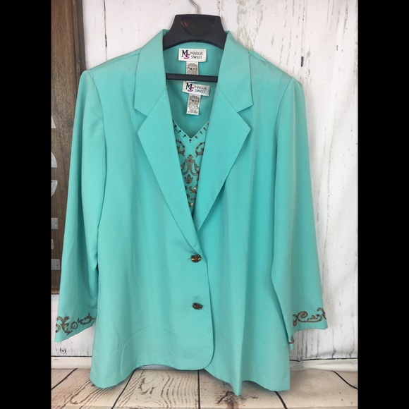 Maggie Sweet Jackets & Blazers - Maggie Sweet Combo Suit and Shirt Set Petite Large